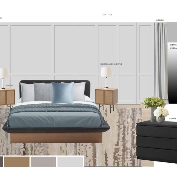 Квартира с тремя спальнями ЖК Мид